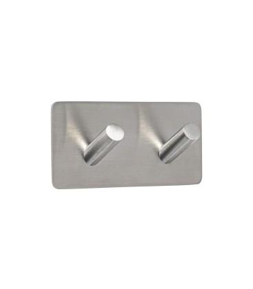 Dvojitý samolepiaci vešiak z brúsenéj nehrdzavejúcej ocele